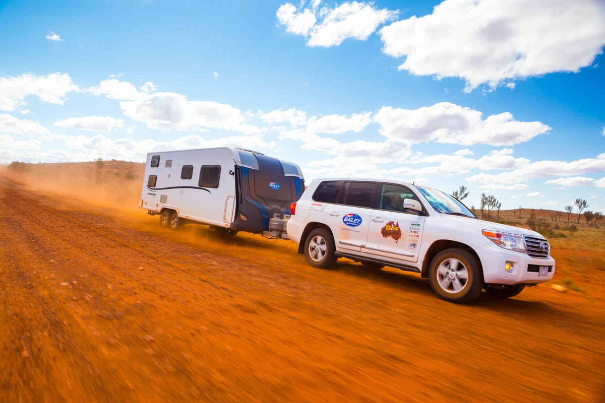 Caravan World tested ESC in the outback on the Bailey Gemini