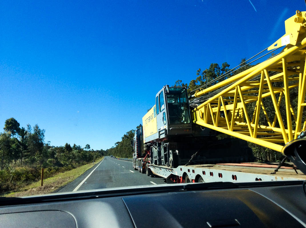 A reduced speed will make being overtaken by road trains less unnerving