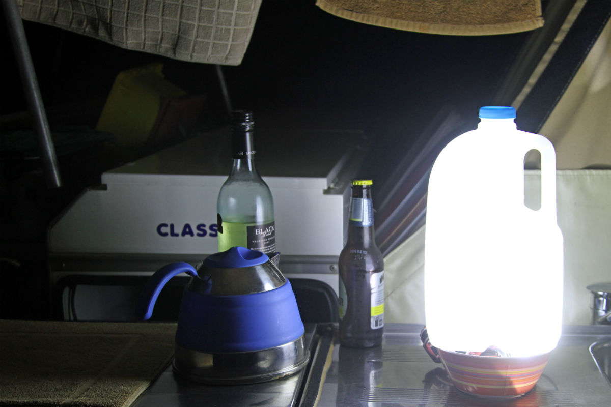 mood lighting for camping