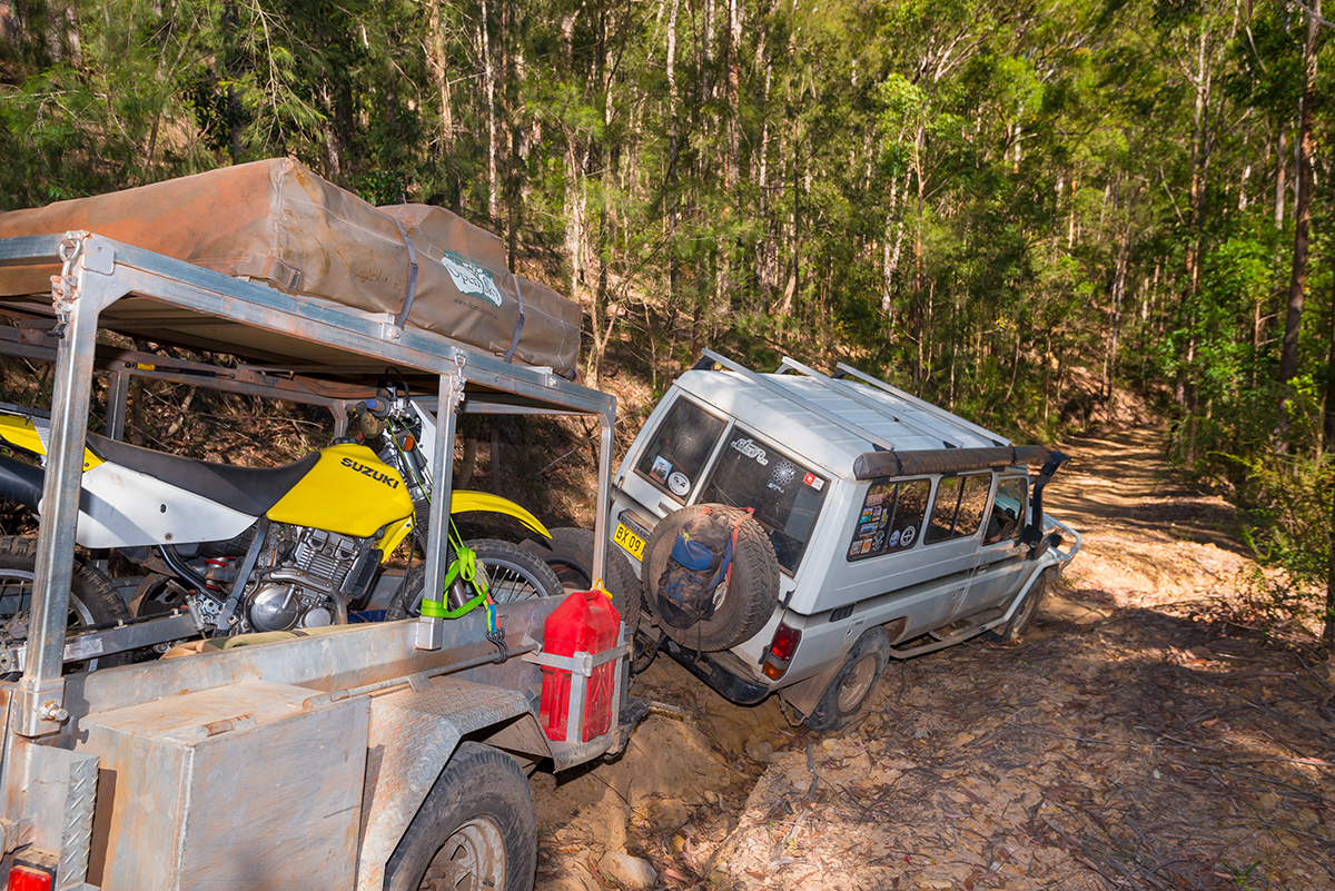 Towing-and-taking-a-deep-rut