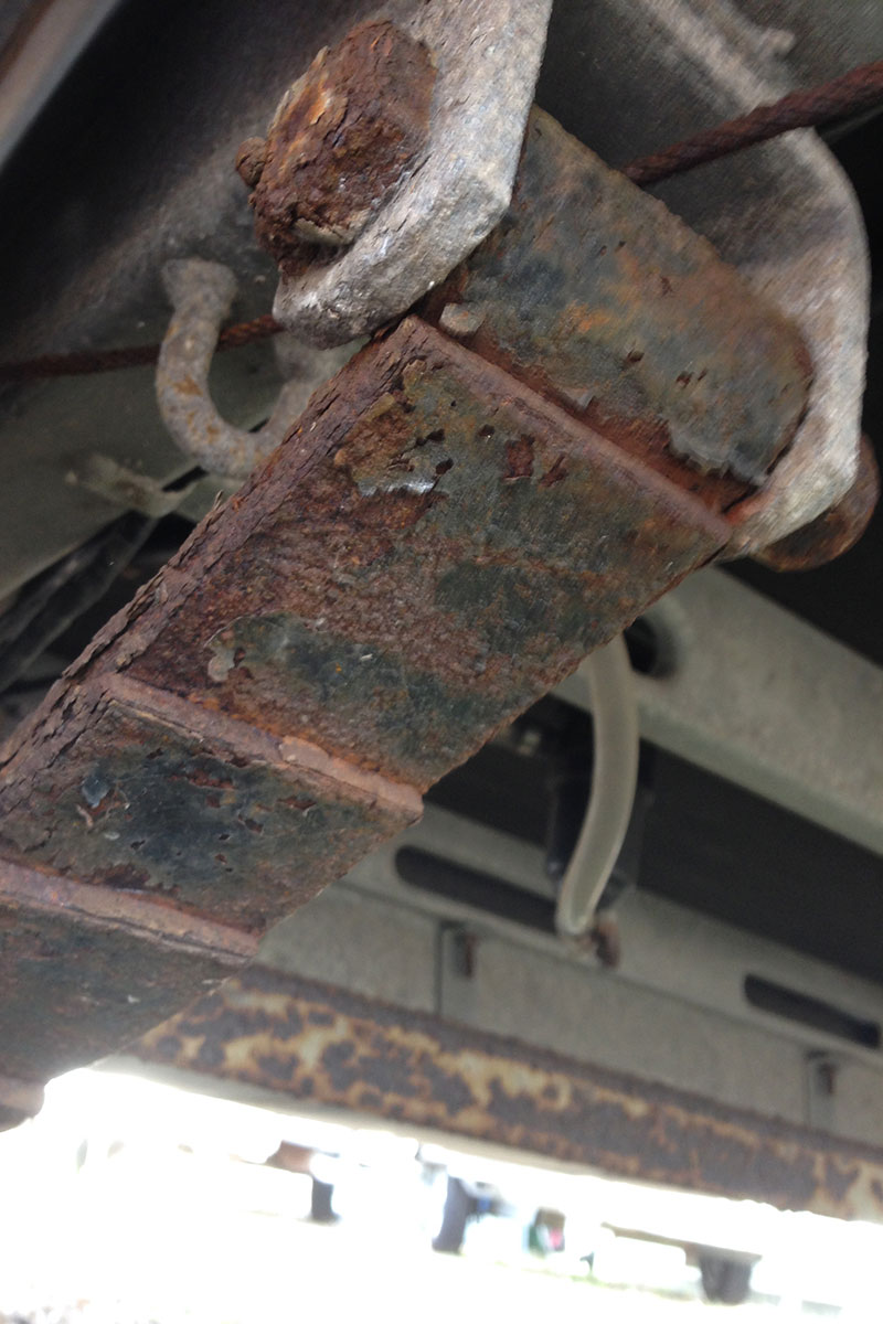Rusted-suspension