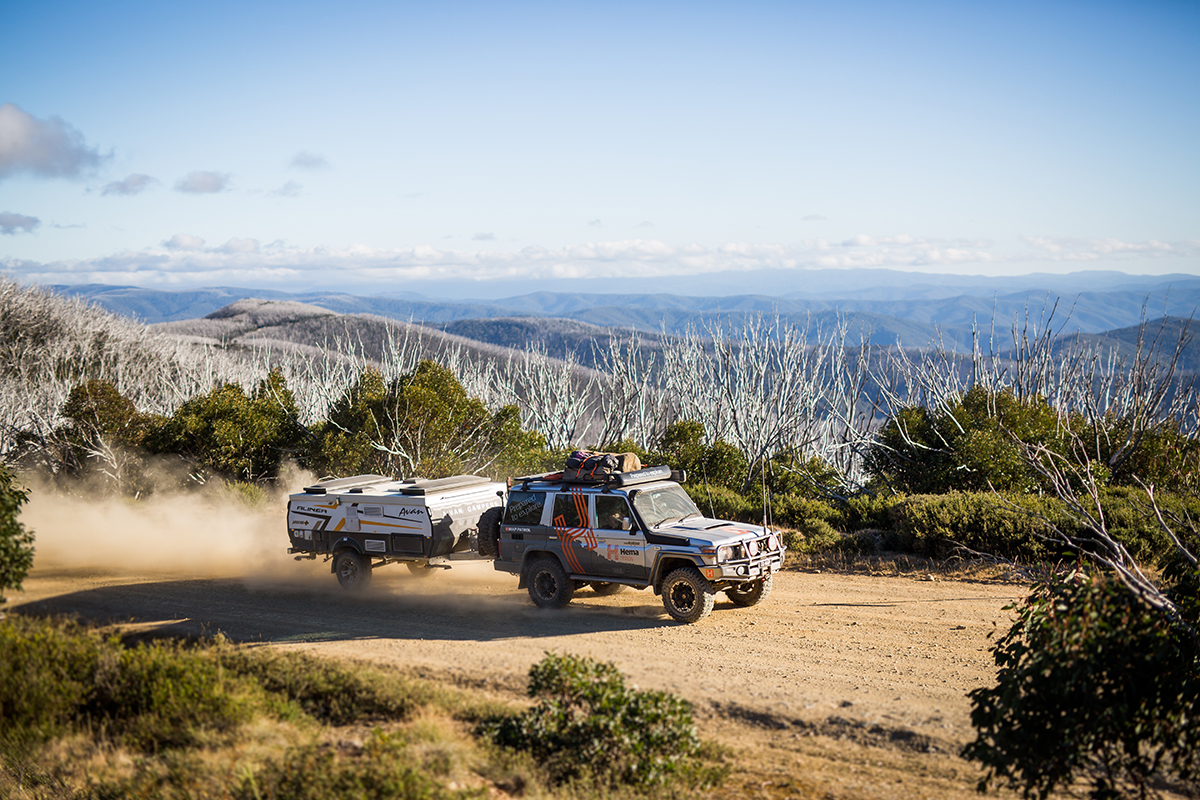 Hema-truck-towing-the-Avan-camper-in-High-Country